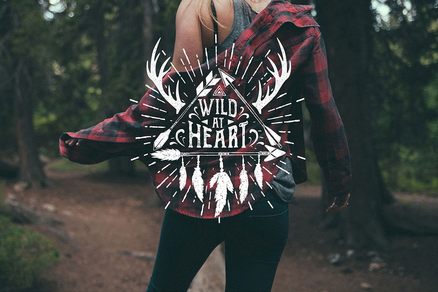 Wild at Heart. Native American Vintage Badges. Vol.1 example image 9