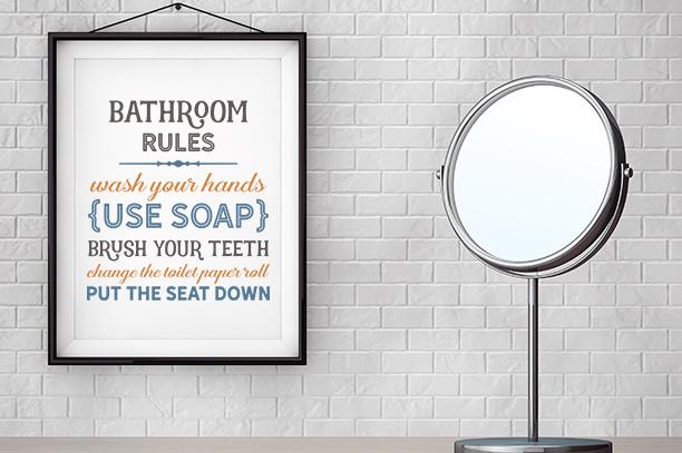 Bathroom Rules example image 1