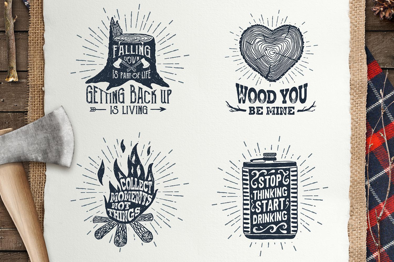 Lumberjack. Vintage Badges (part 1) example image 5