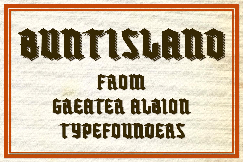 Buntisland Typeface Family example image 1
