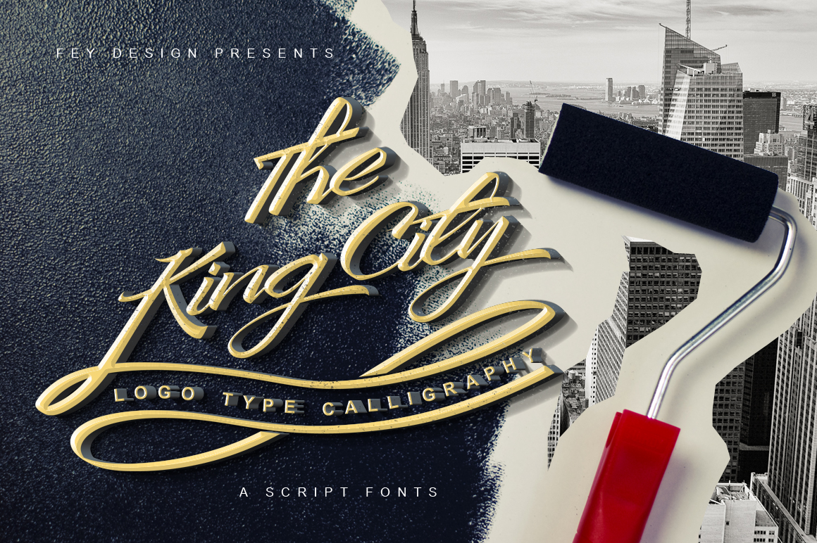 King City - Logo Type Calligraphy example image 1