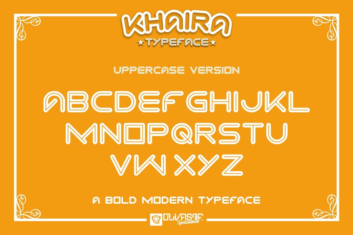 KHAIRA TYPEFACE example image 7