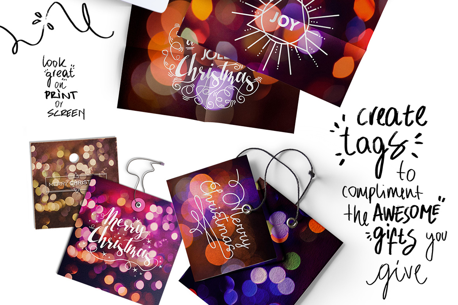Christmas lights: lettering + more! example image 8
