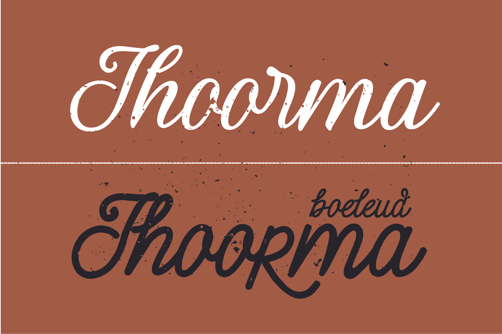 Thoorma 2 Family font example image 4