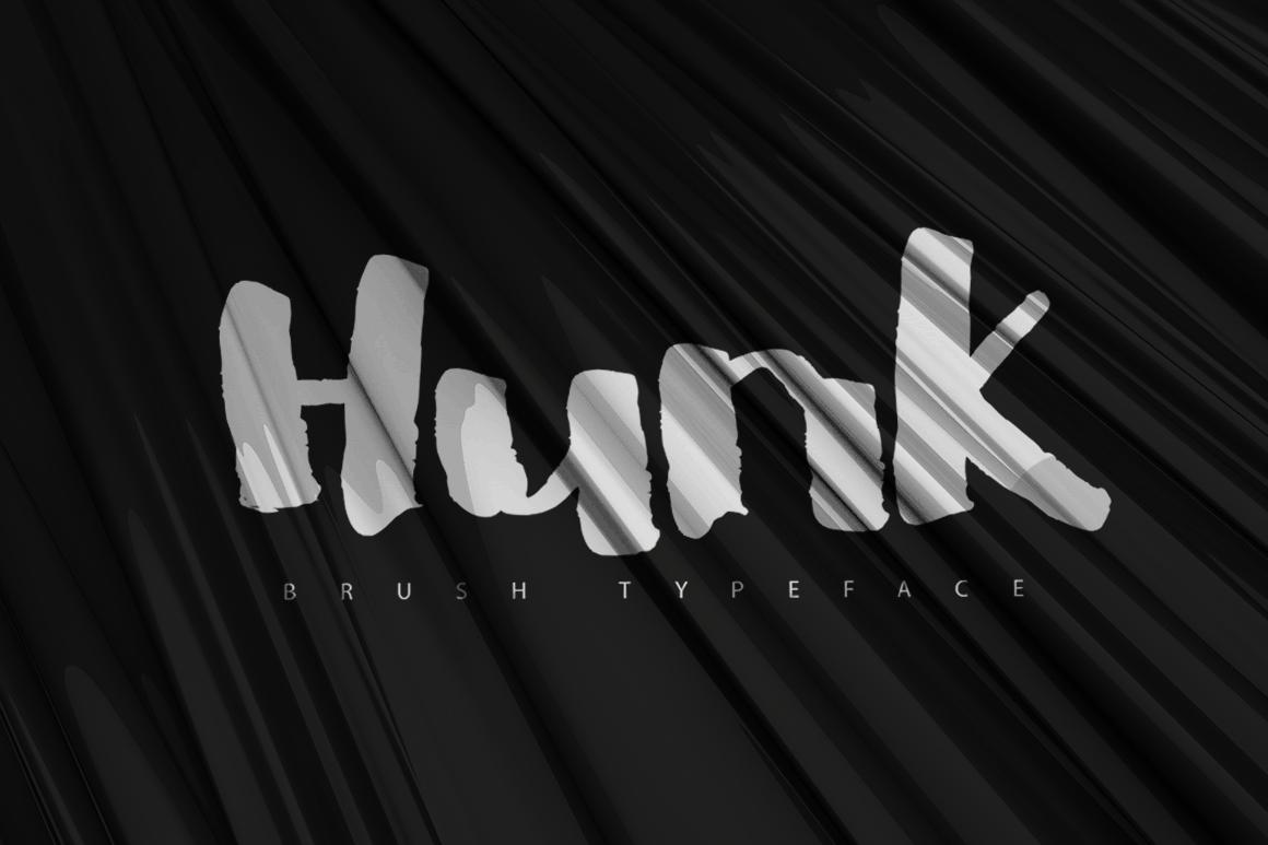 HUNK Brush Typeface [-50% Intro] example image 1