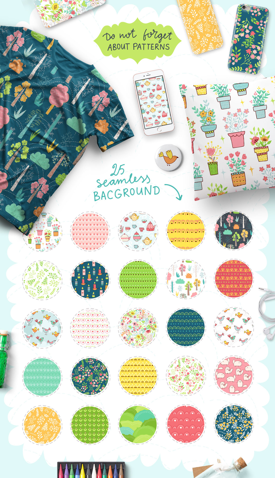 Spring is Here! Graphics & Patterns example image 5