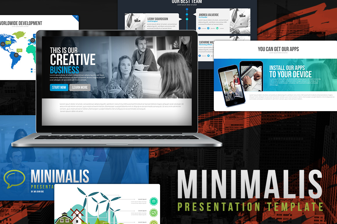 Minimalis Powerpoint Template example image 1