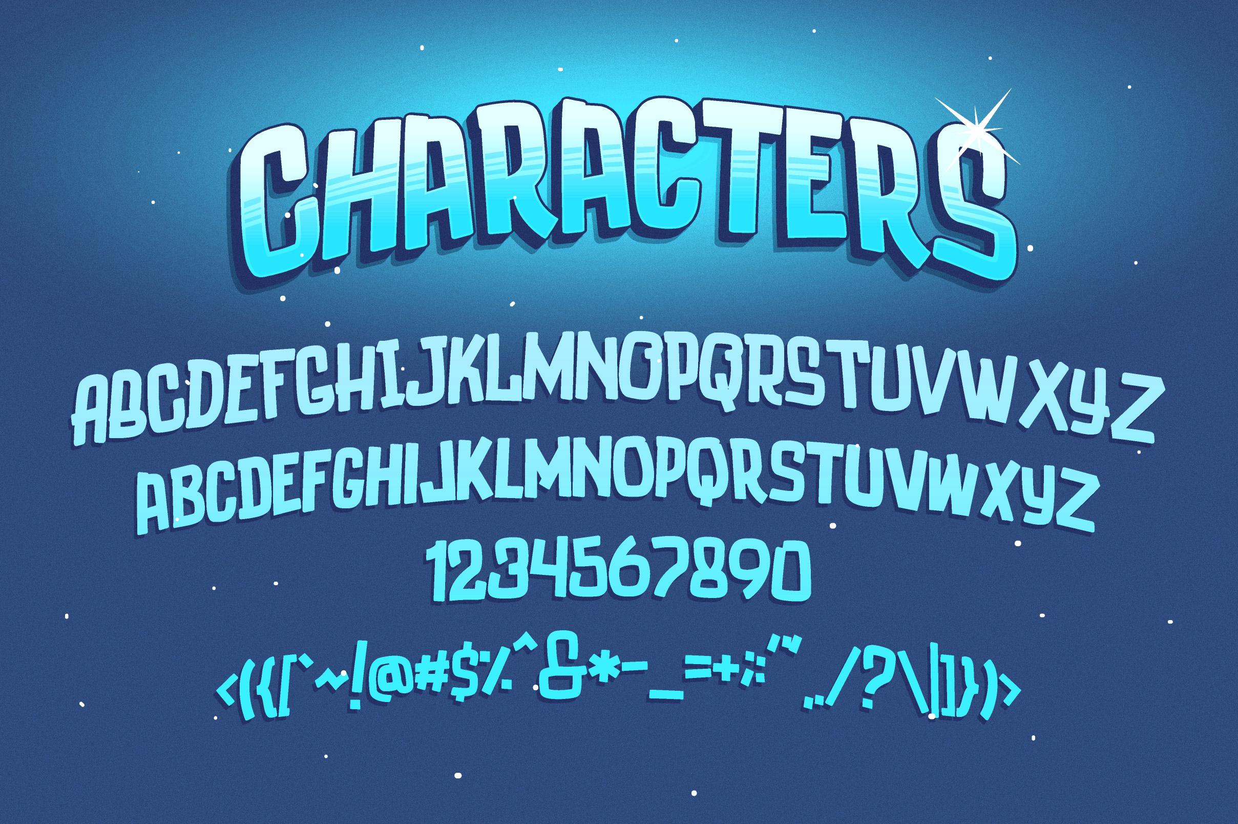 Luducudu Layered Typeface example image 3