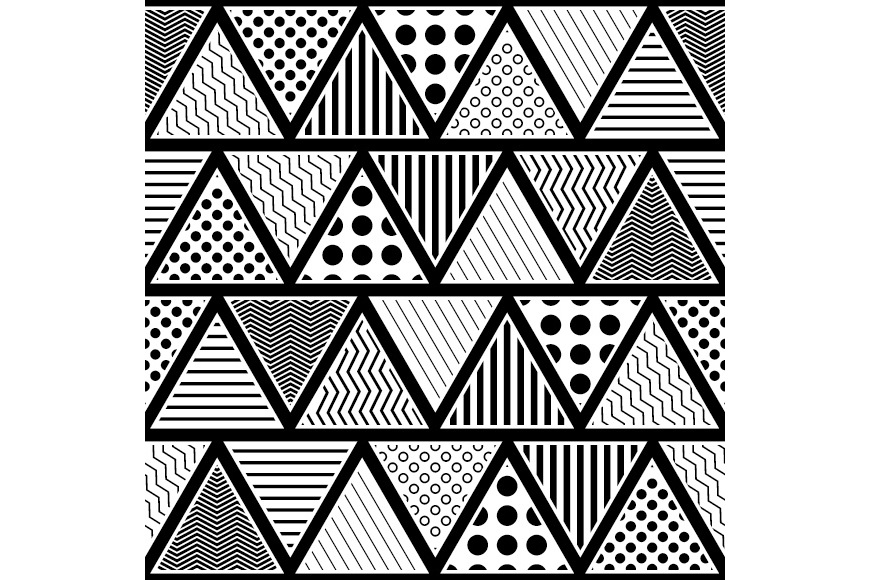 Set of 12 seamless vector backgrounds with abstract geometric pattern. example image 11
