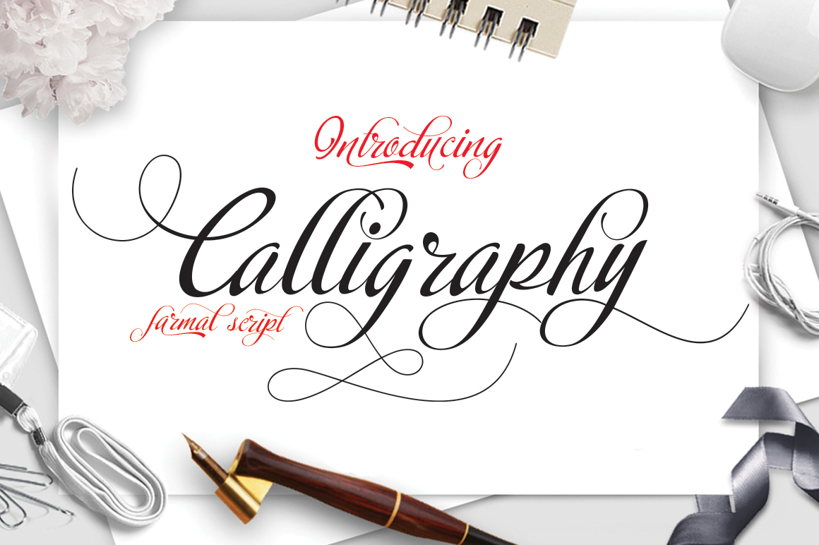 Calligraphy script example image 1
