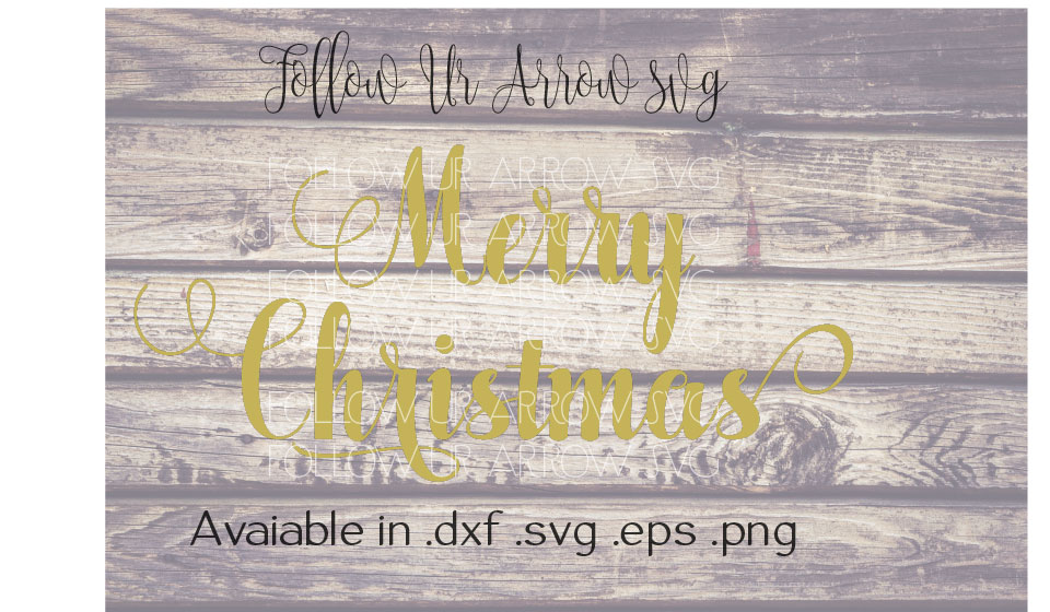 Merry Christmas Cursive Font with Swirls