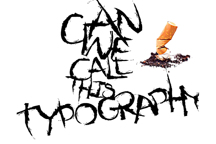 Dejecta typeface layout 2