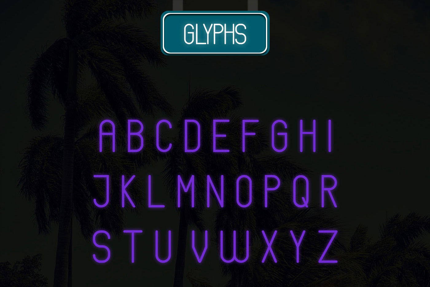 Neons display typeface example image 2