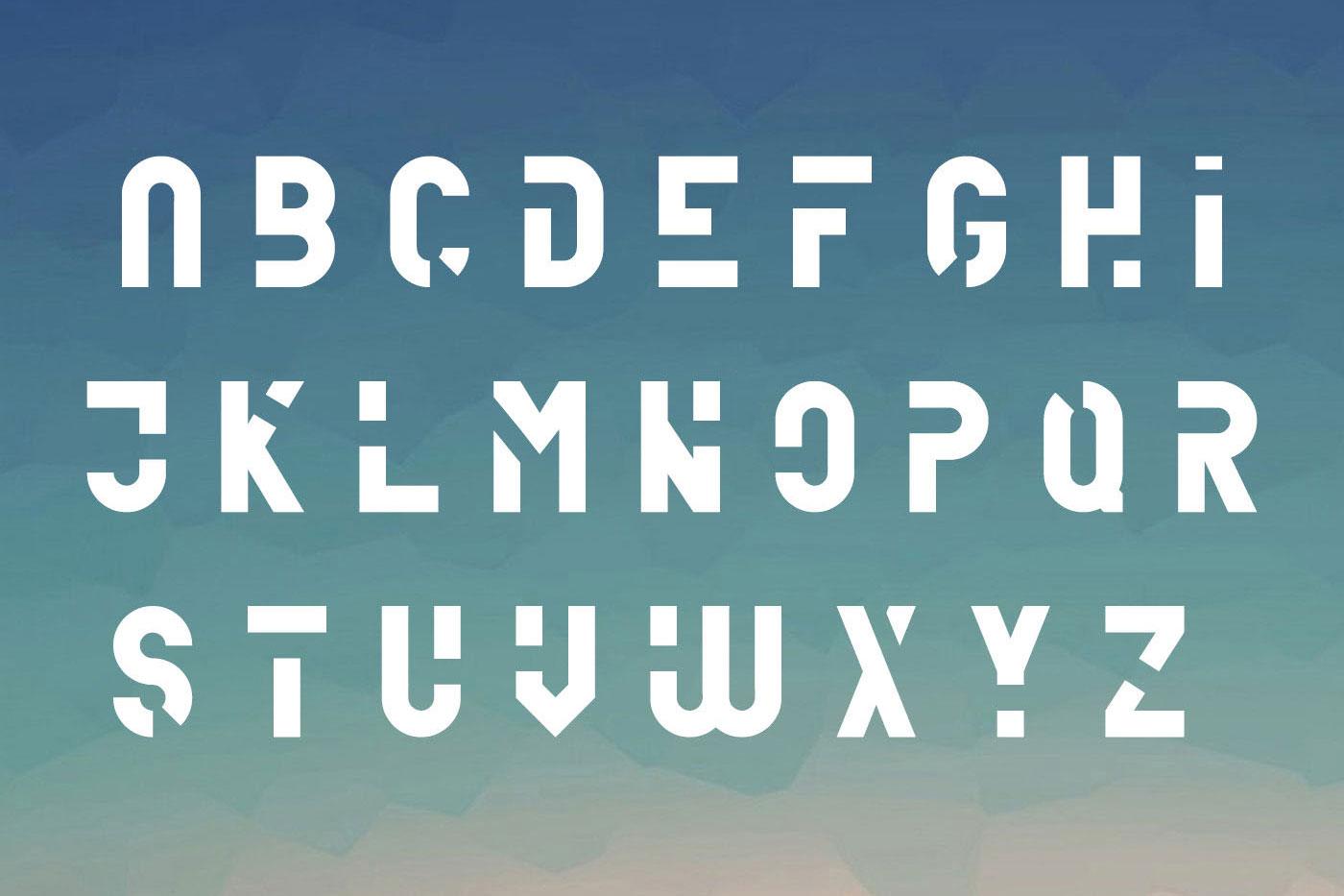 Unfinished typeface example image 3