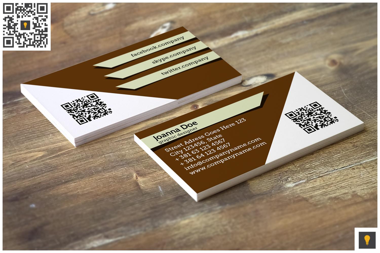 Stripe Modern Business Card Brown