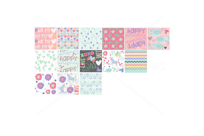 Sweet Valentine Seamless Patterns example image 3