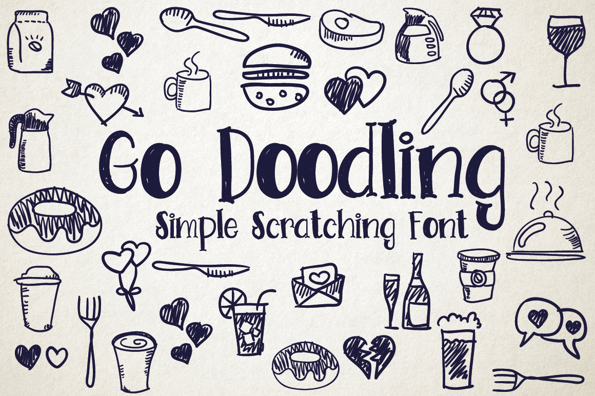 Go Doodling, Scratching Font example image 1