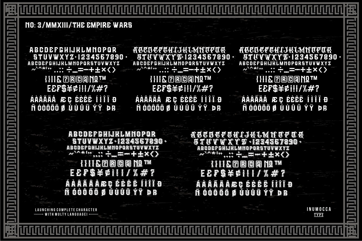 The Empire Wars (family font) example image 5