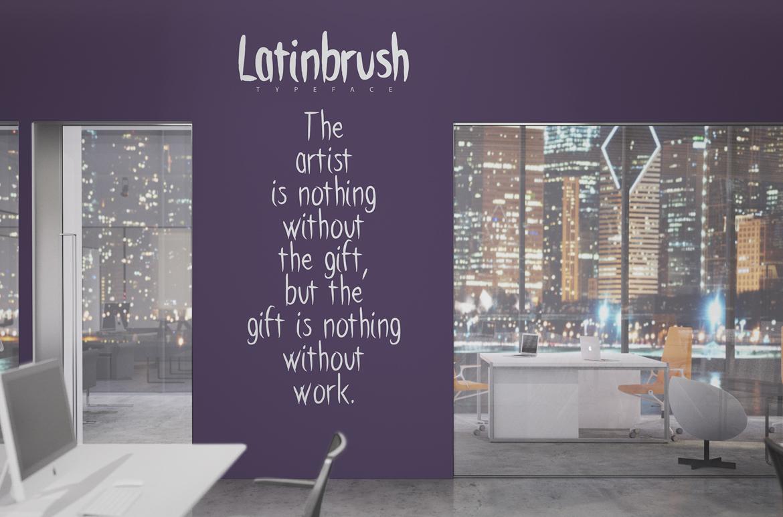Latinbrush Typeface example image 4