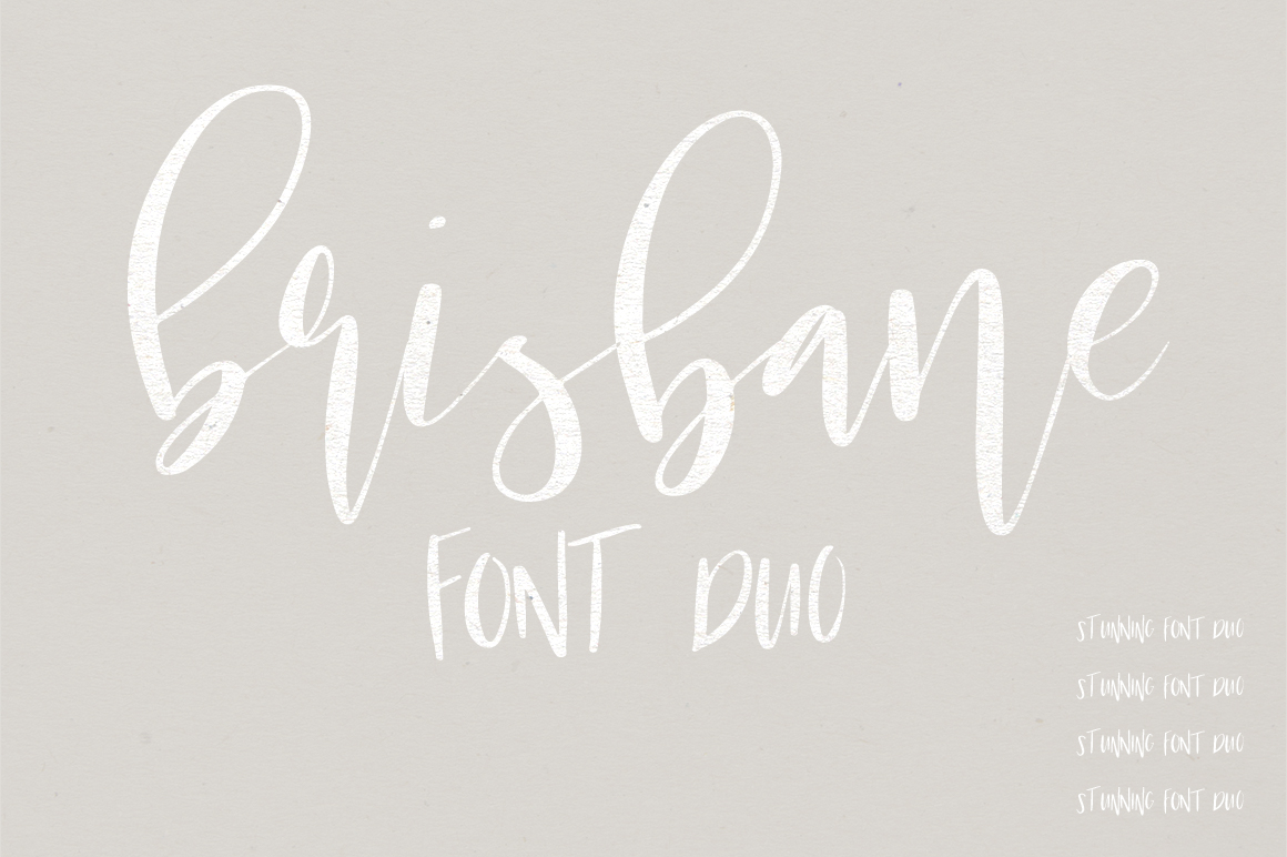 Brisbane | A Scripty Font Duo example image 1