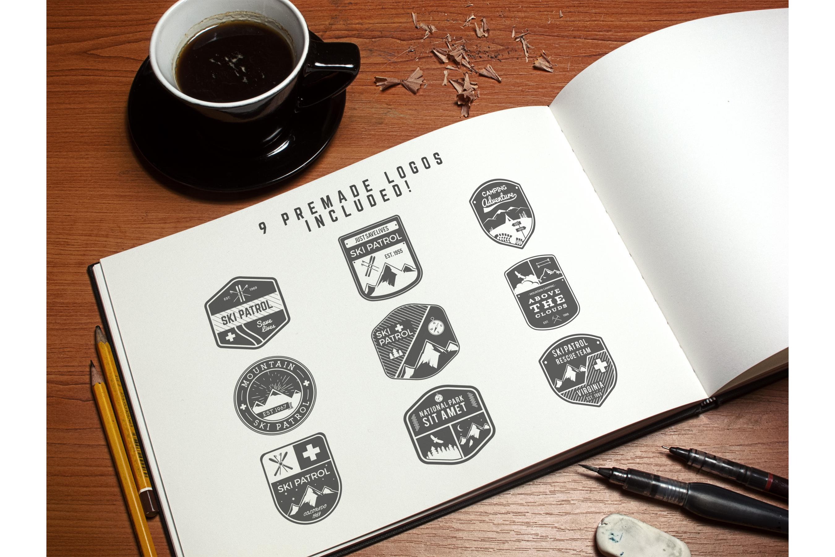Logo Creation Kit - Camping Edition example image 15