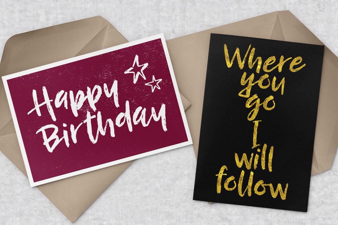 Breezy Beach: birthday greeting card mockup idea