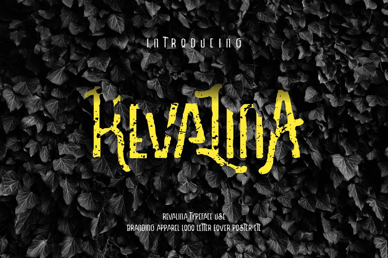 Revalina font cover