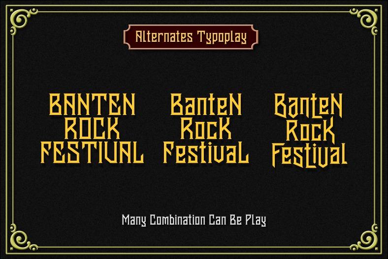 Banten Unfamous 2 - 3 Fonts example image 7