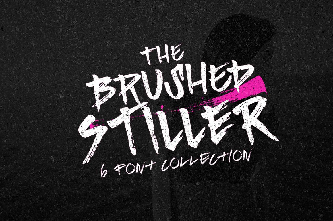 Brushed Stiller 6 Fonts example image 2