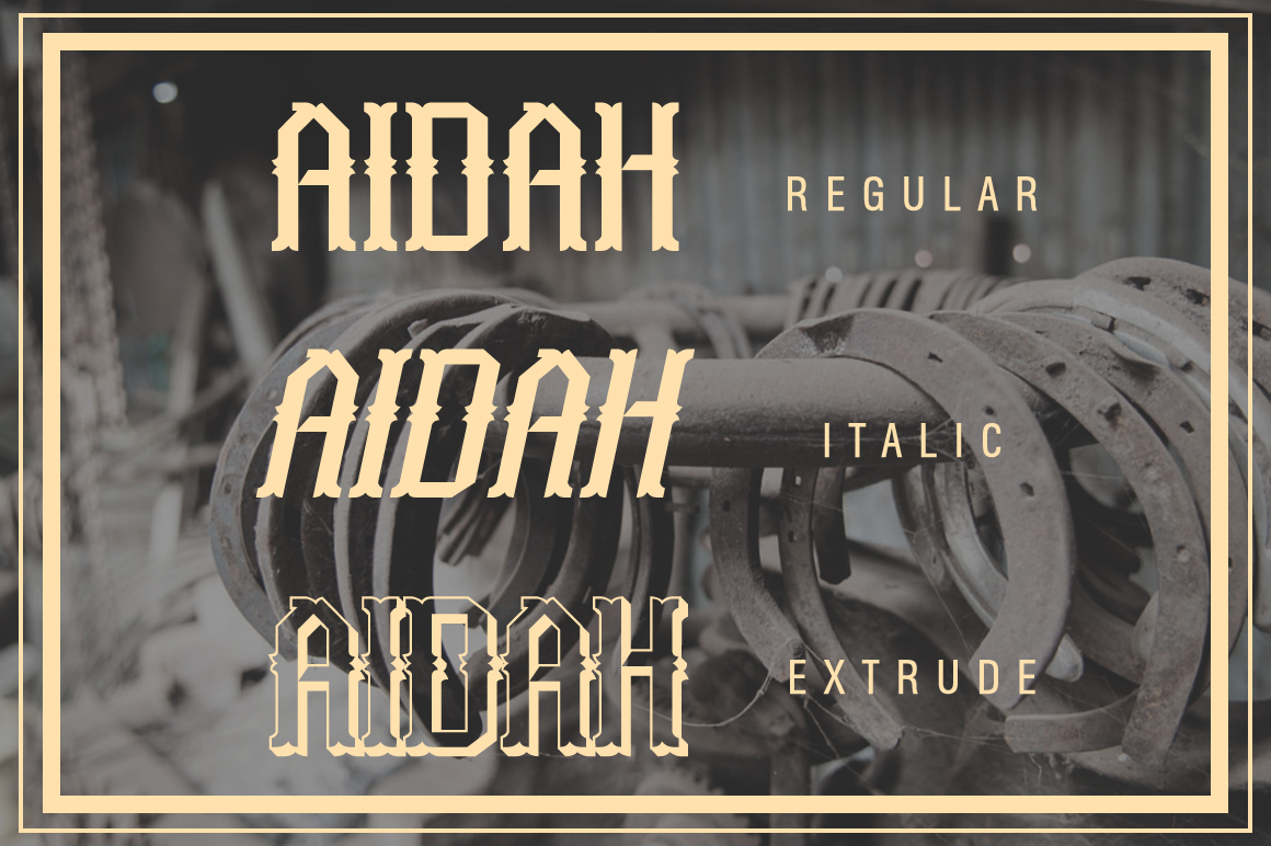 Aidah Typeface example image 5