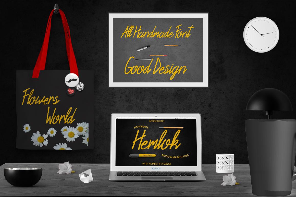 Hemlock Marker Font example image 3