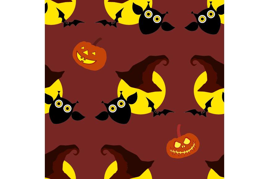 Set of 12 seamless vector backgrounds Happy Halloween.  example image 7