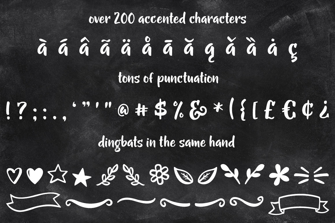Gumption - extended characters, punctuation, and dingbats