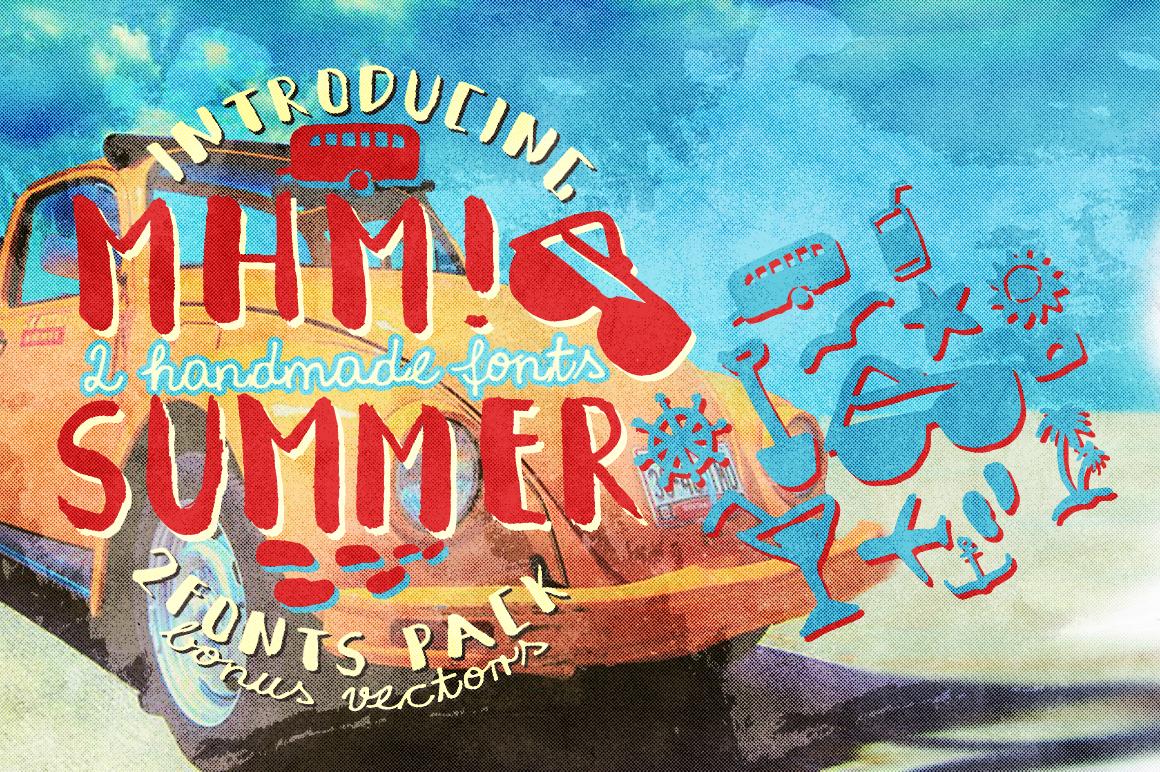 Mhm! Summer 2 Font + Vector Bonus example image 2