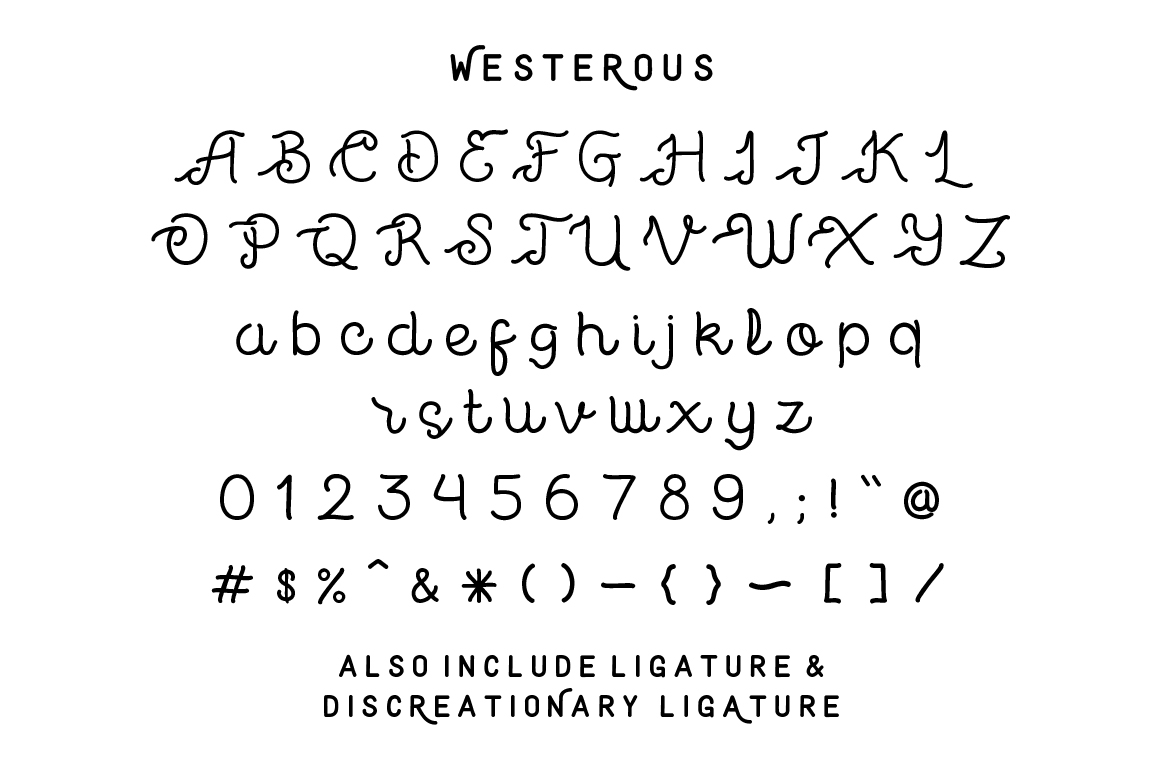 Westerous Font example image 2