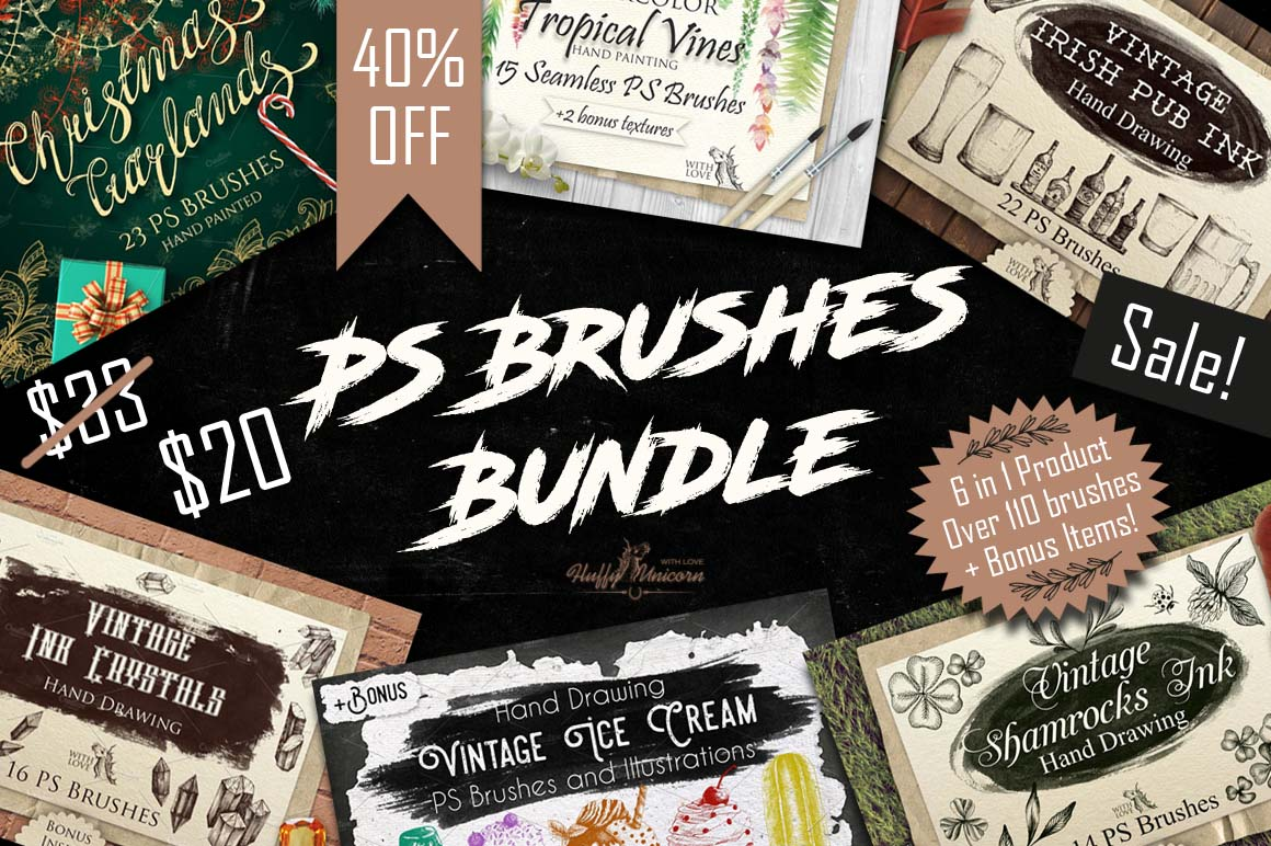 40%OFF! PS Brushes Bundle example image 1