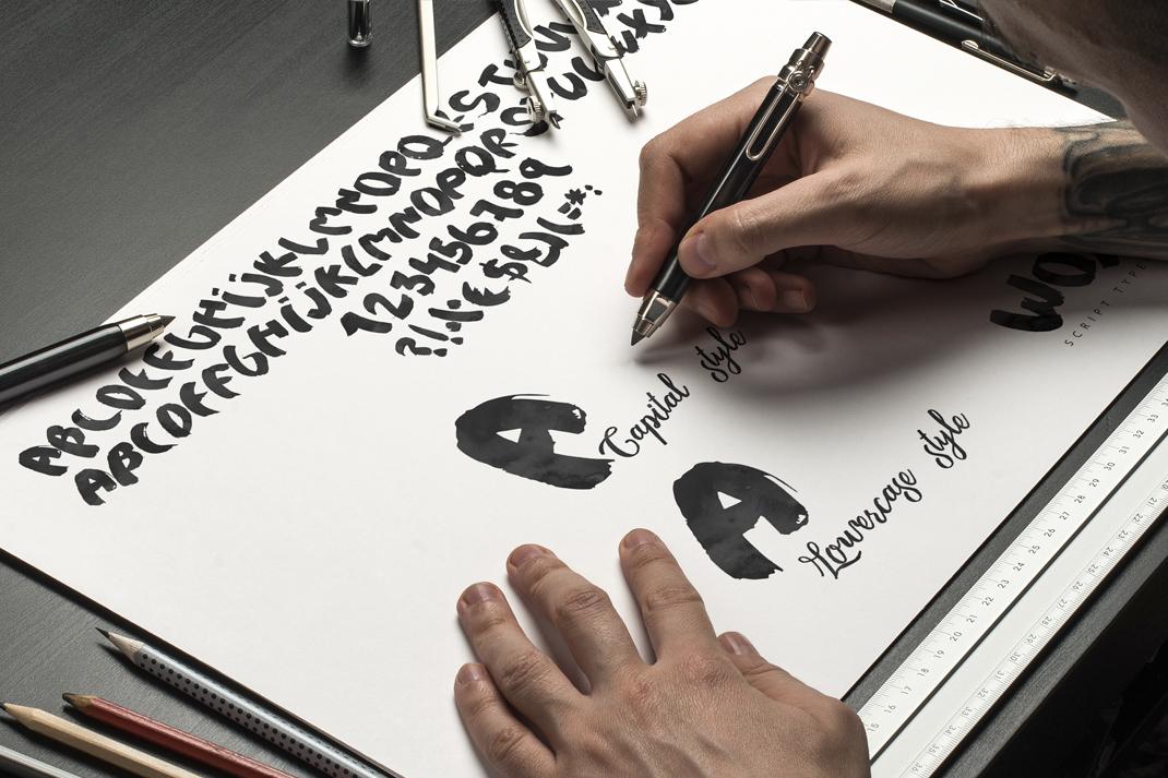 Woys Brush Typeface example image 2