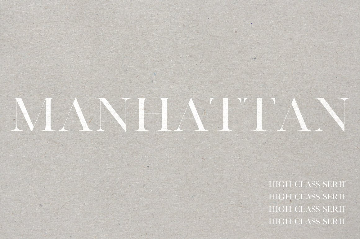 Manhattan | A High Class Serif example image 1