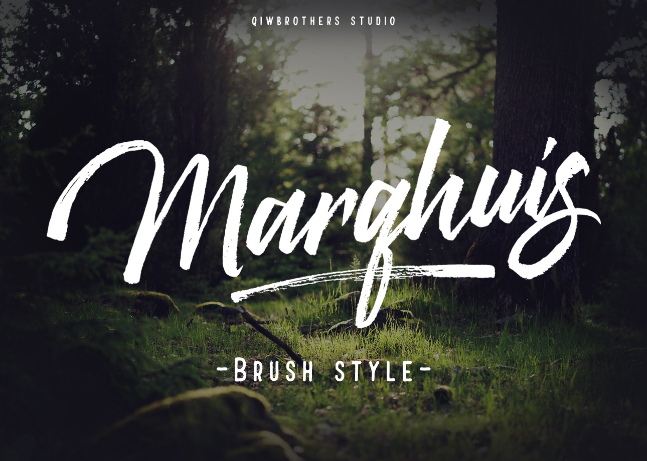 Marqhuis Brush font example image 1