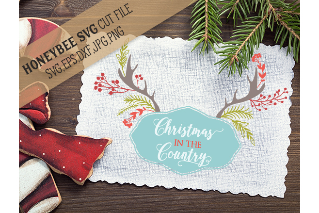 Christmas In The Country svg example image 1