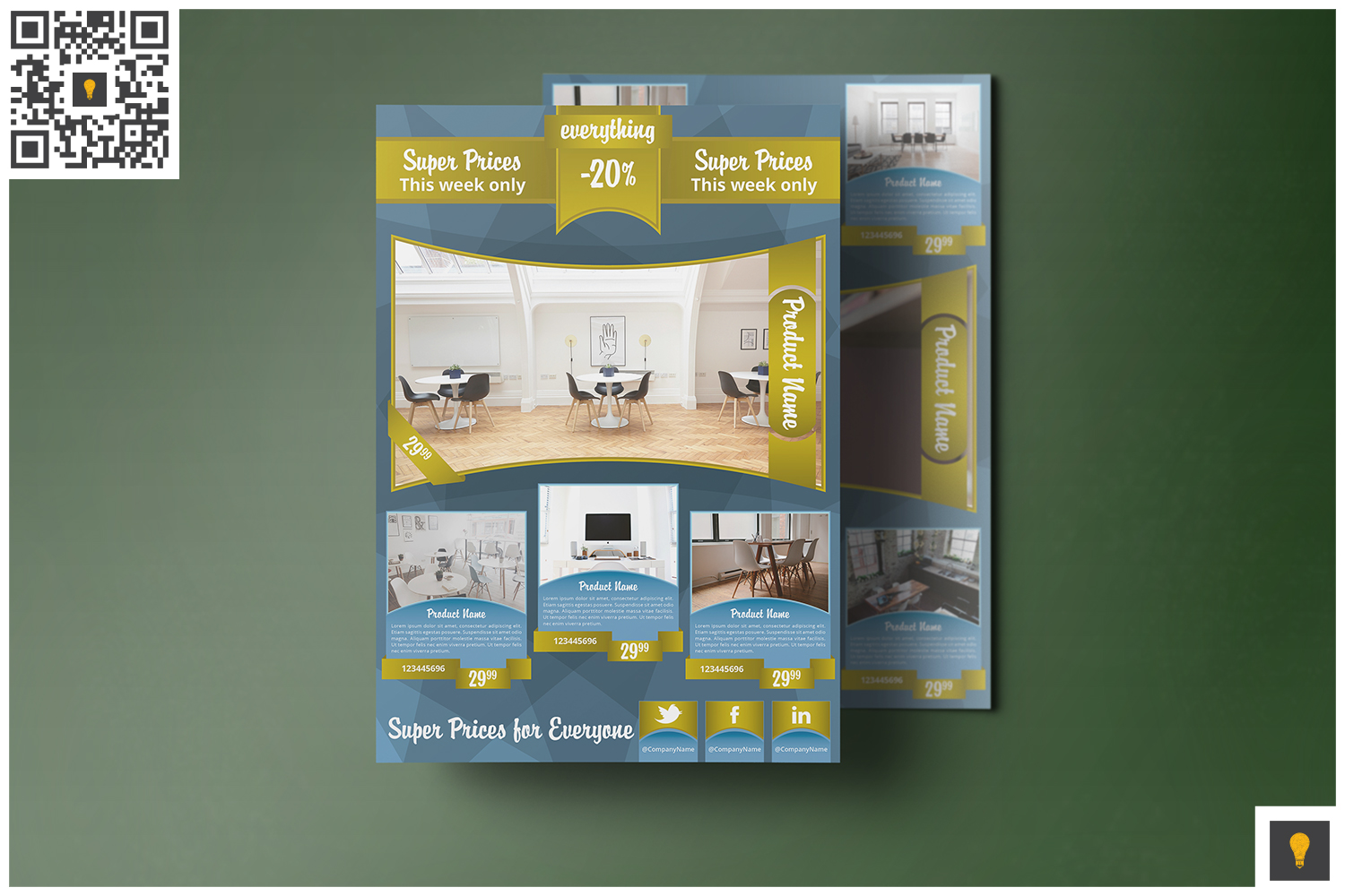 Corporate Product Promotion Flyer Blue
