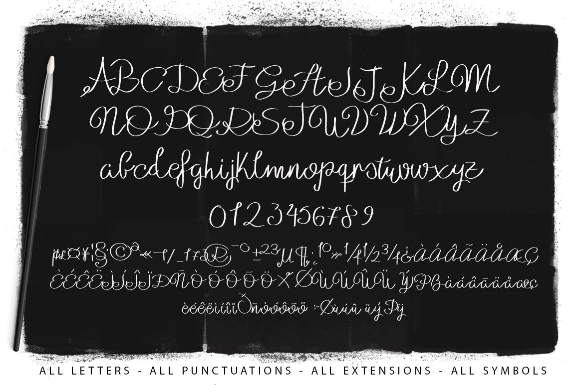 Julianne Script Typeface example image 2