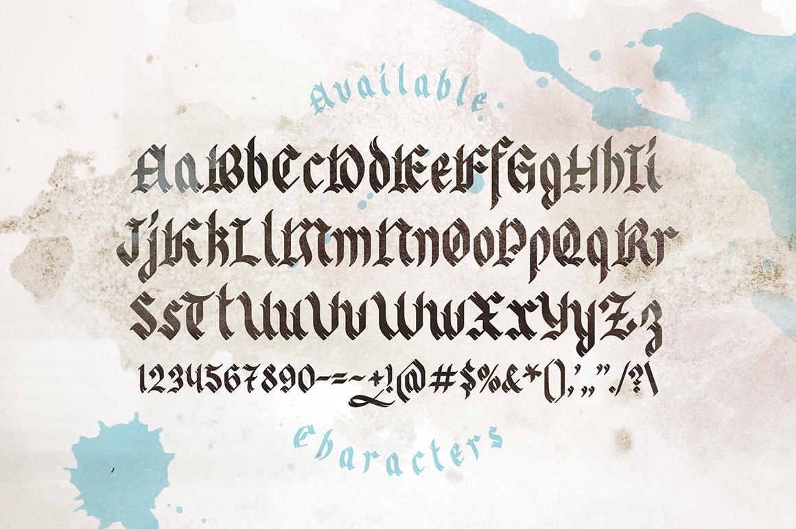 Odd times typeface + bonus graphics example image 3