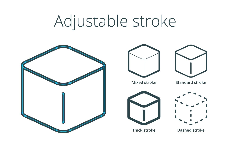 Adjustable strokes