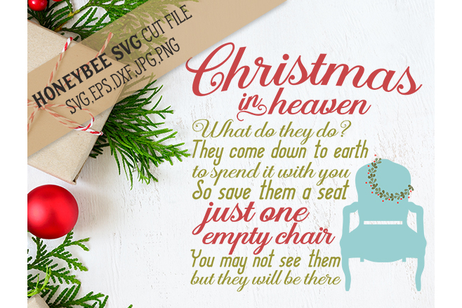 christmas in heaven chair svg example image 1