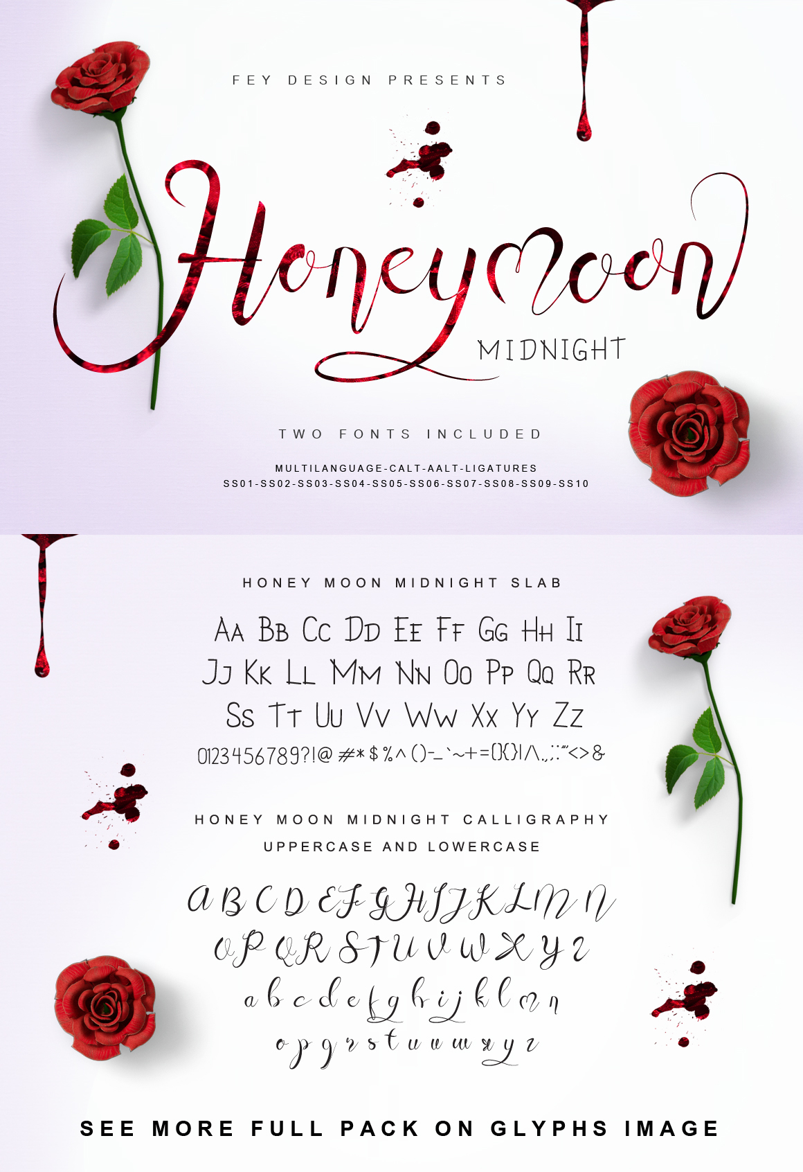Honey Moon Midnight Two Fonts example image 8