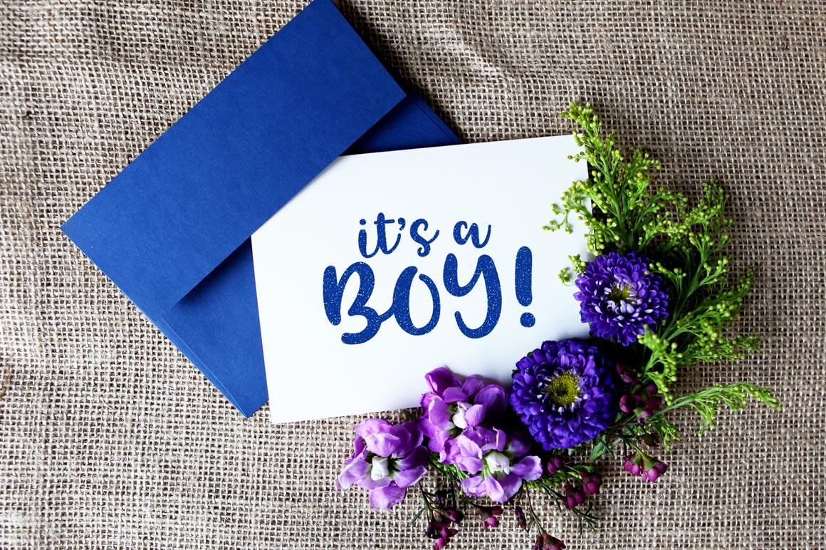 Tingler font duo - greeting card announcement mockup