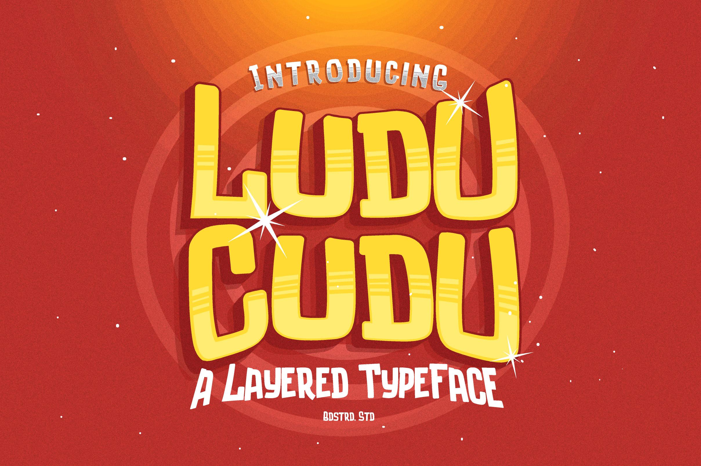Luducudu Layered Typeface example image 1