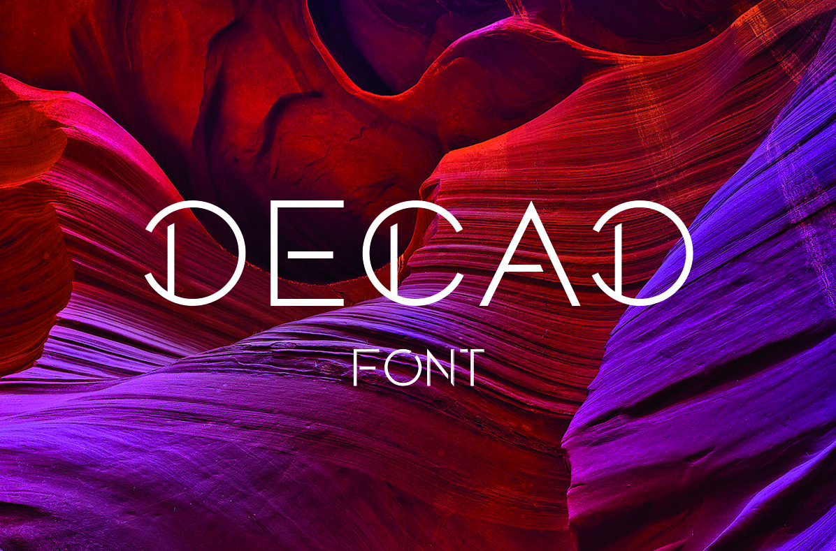 DECAD font example image 1