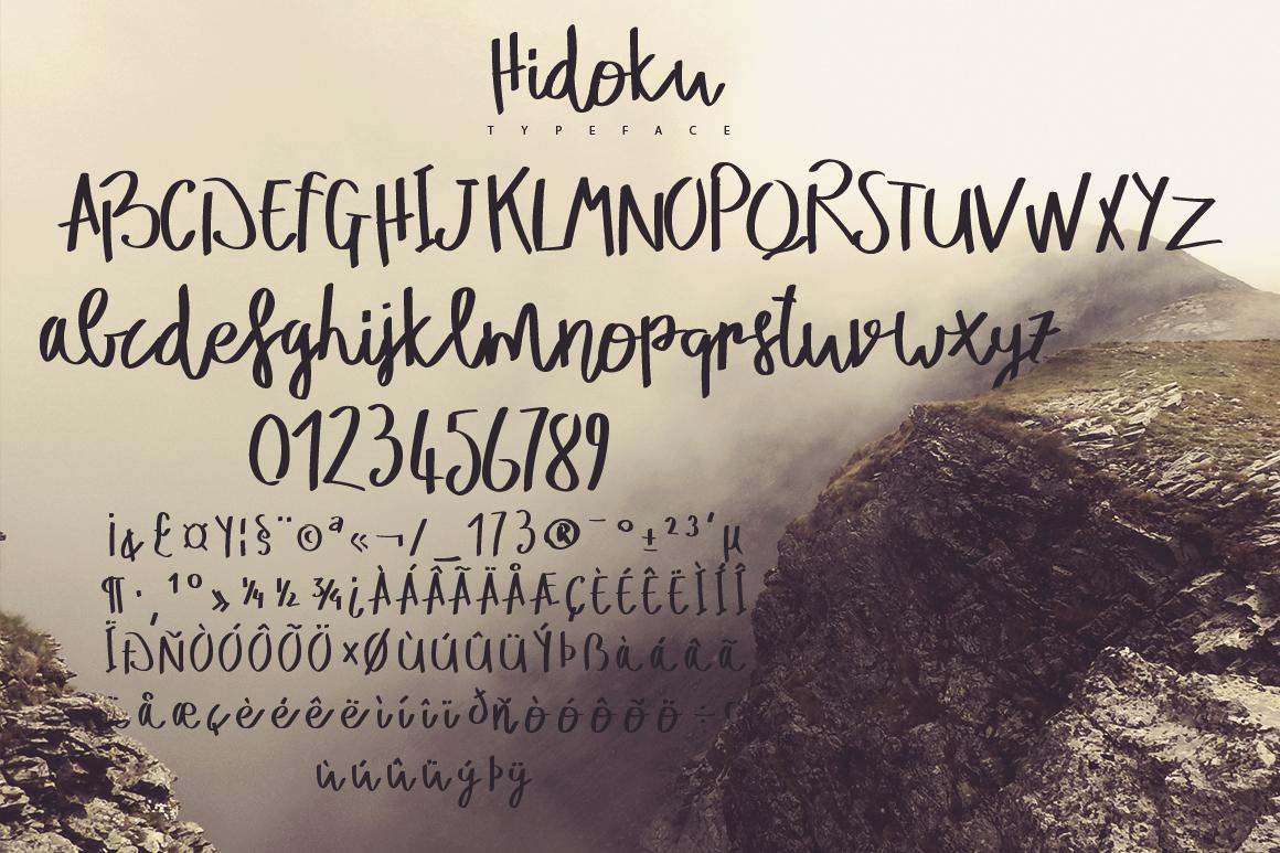 Hidoku Script Typeface example image 5